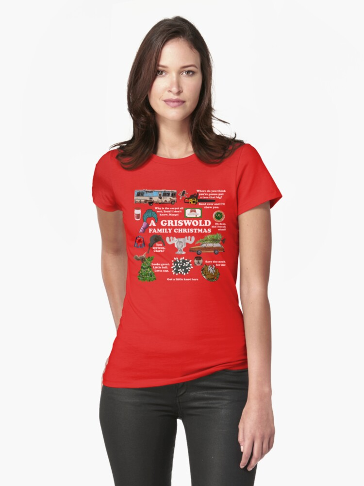 Christmas Vacation Collage Womens T-Shirt Front