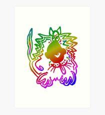 RainbowCat Art Print