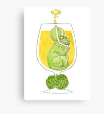 Dinosaur beer Canvas Print