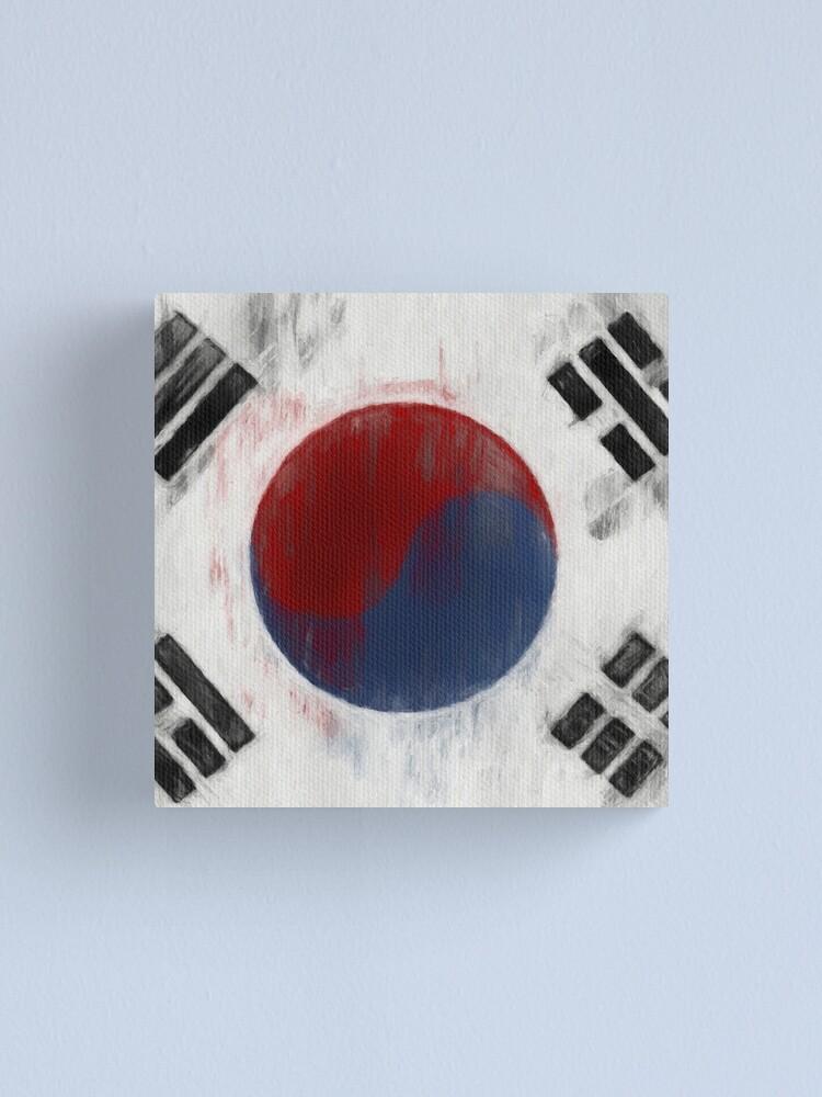 Alternate view of South Korean Flag No. 1, Series 2 Canvas Print