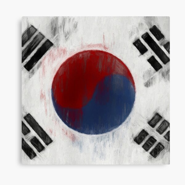 South Korean Flag No. 1, Series 2 Canvas Print