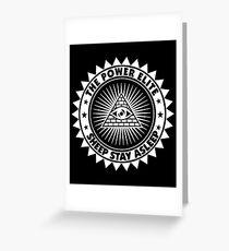 Sheep Stay Asleep - The Power Elite Greeting Card