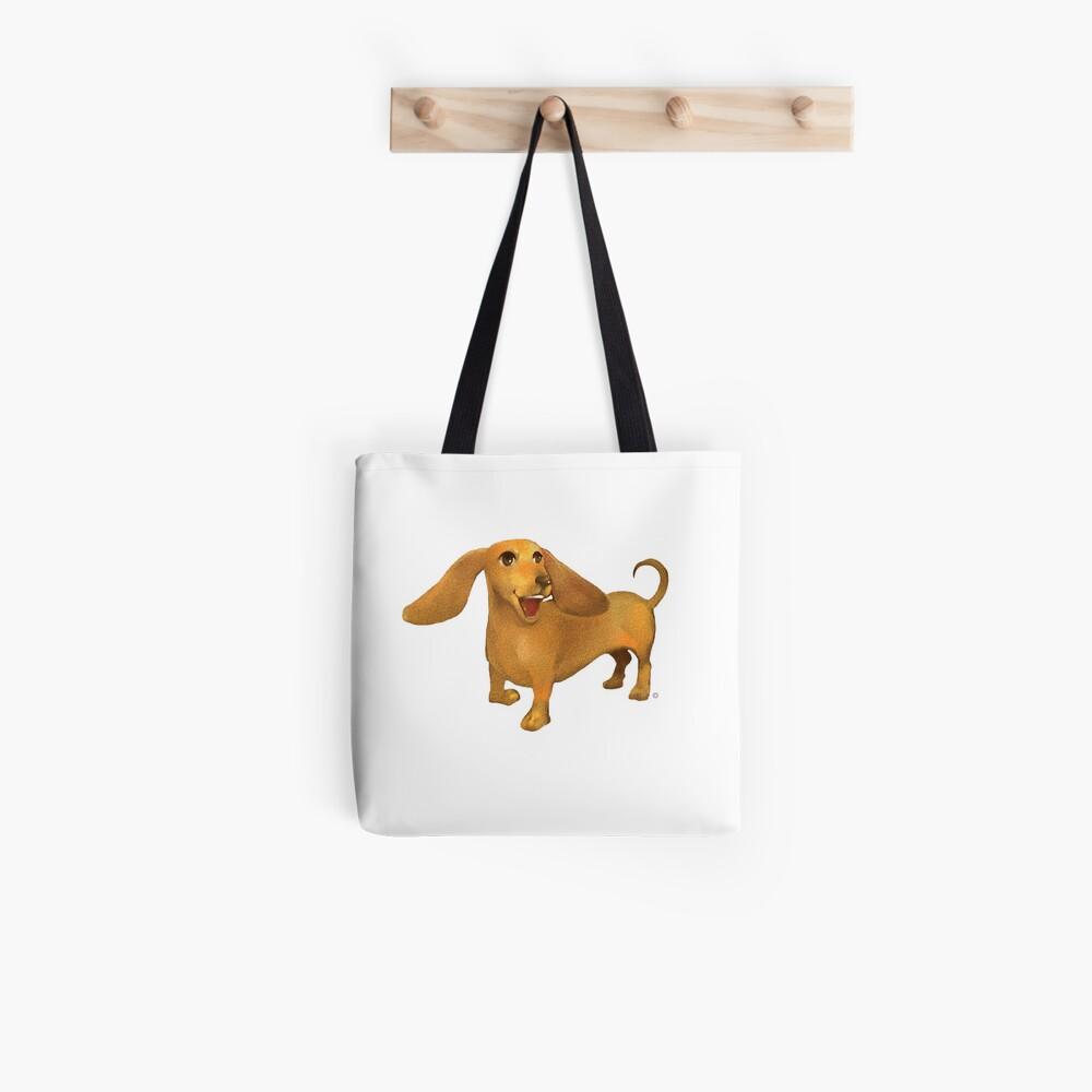 Jasper The Sled Dog Dachshund Tote Bag