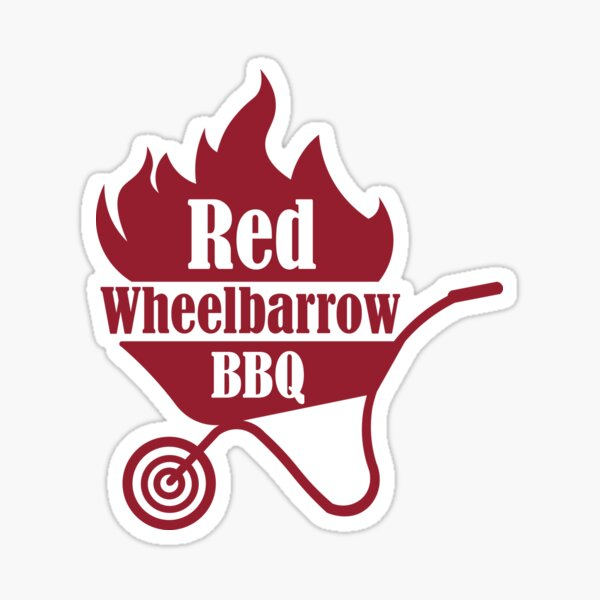 Red Wheelbarrow BBQ Sticker