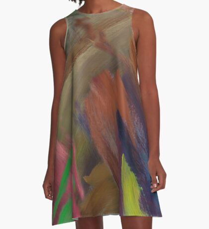 Abstract Emotion A-Line Dress