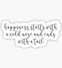 Puppy Happiness Sticker