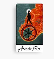 Arcade Fire Wheel Canvas Print