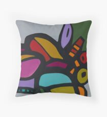 Pomegranate Harvest Panel 2 Throw Pillow