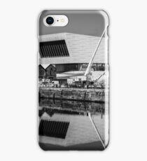 Black & White Reflections At Albert Dock iPhone Case/Skin