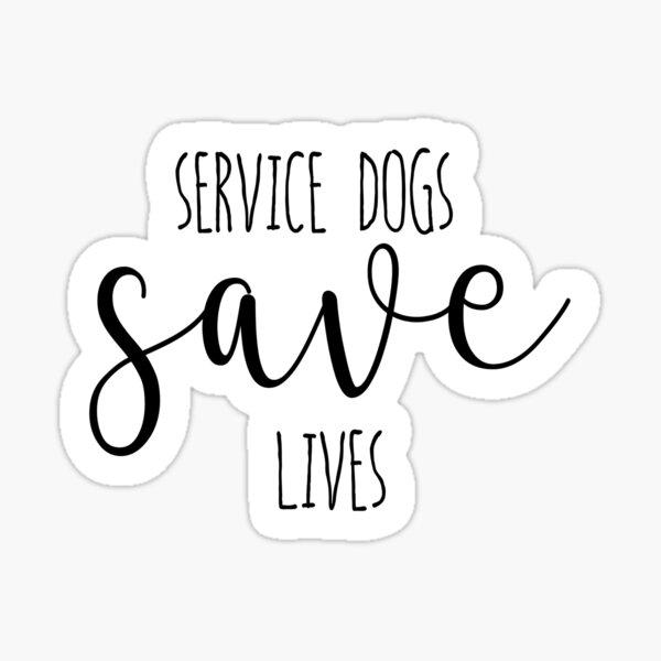 Service Dogs Sticker