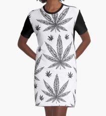 Cannabis Graphic T-Shirt Dress