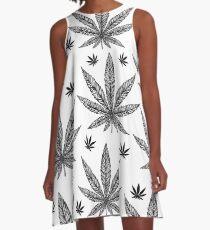 Vestido acampanado Cannabis