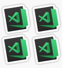 visual studio code insiders x4 Sticker