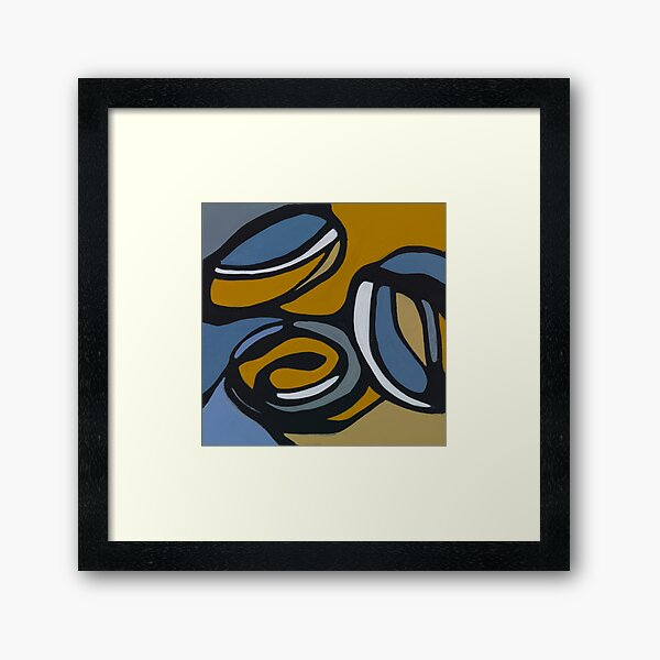 Pulling Mussels from a Shell Panel 1 Framed Art Print