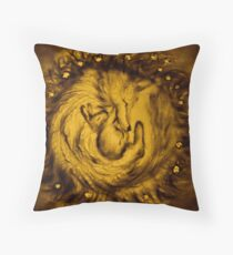 Fox and Bunny Throw Pillow