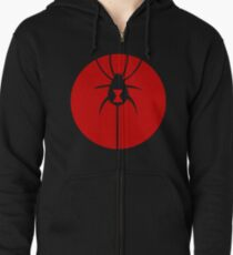 Spider Red Zipped Hoodie