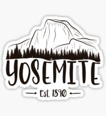 Yosemite National Park California - El Capitan Half Dome 1890 Sticker