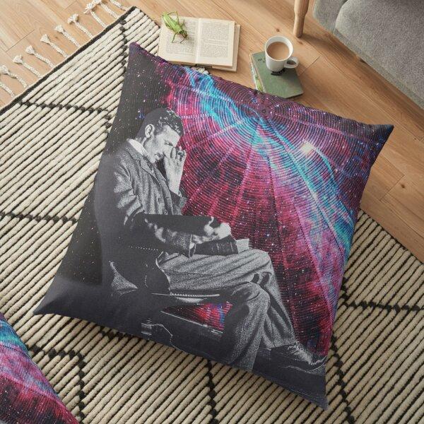 nicola tesla Floor Pillow