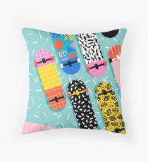 Omigod - 80s retro memphis skateboards pattern sports trendy 1980's vintage style retro Floor Pillow
