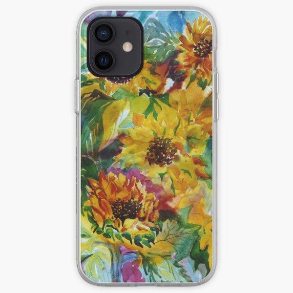 Sunflowers a la Somis iPhone Soft Case