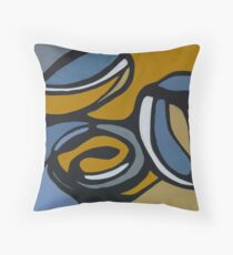 Pulling Mussels from a Shell Panel 1 Throw Pillow