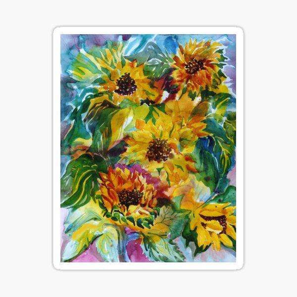 Sunflowers a la Somis Sticker