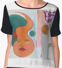 Still Lonely when ur here Acrylic on Cardboard  Women's Chiffon Top