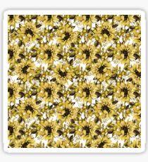 Beautiful Yellow Sunflowers On White Sticker