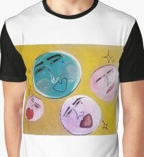 The Moon has Many Moons, Acrylic on cardboard  Graphic T-Shirt
