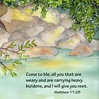 An Invitation to Rest- Matthew 11:28 by Diane Hall