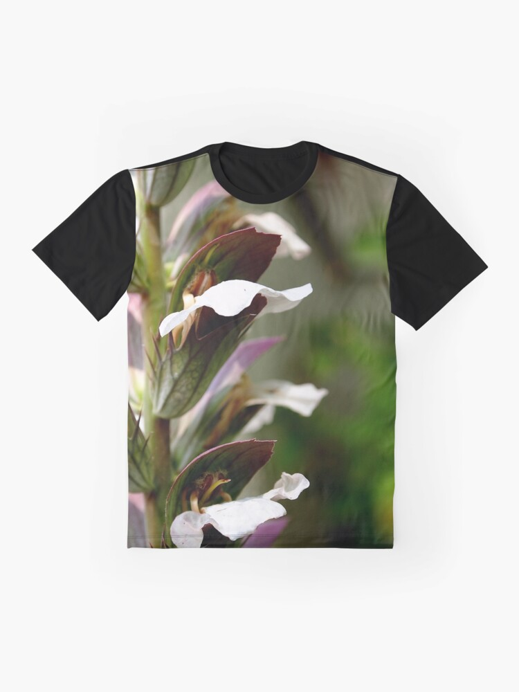 Alternate view of Acanthus from A Gardener's Notebook Graphic T-Shirt