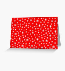 Snowflakes auf rot Greeting Card