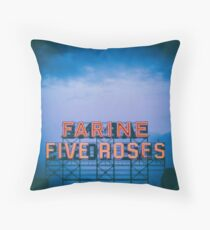 Farine Five Roses Throw Pillow