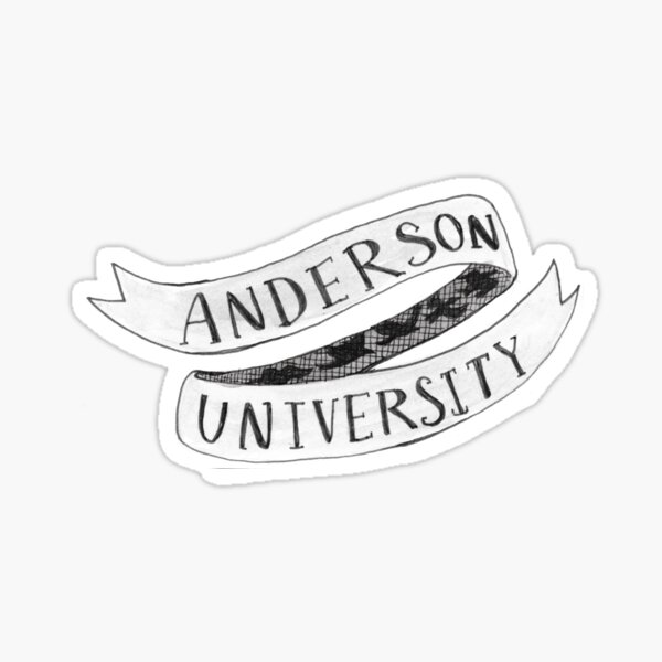 Anderson University Banner  Sticker
