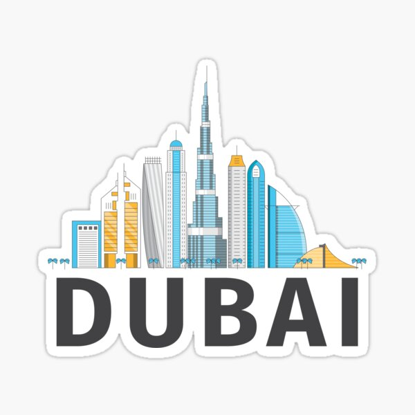 Dubai United Arab Emirates - Burj Khalifa Skyscraper City Skyline Sticker