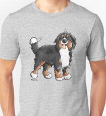 Happy Bernese Mountain Dog - Comic - Dogs - Cartoon - Gift - Funny Unisex T-Shirt