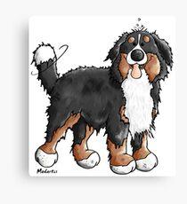 Happy Bernese Mountain Dog - Comic - Dogs - Cartoon - Gift - Funny Canvas Print