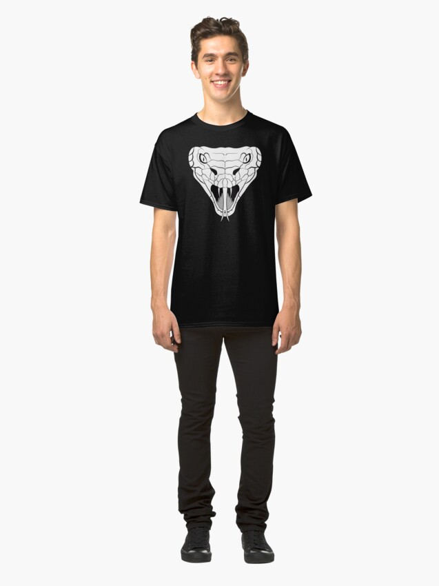 Alternate view of Snake head line-art Classic T-Shirt