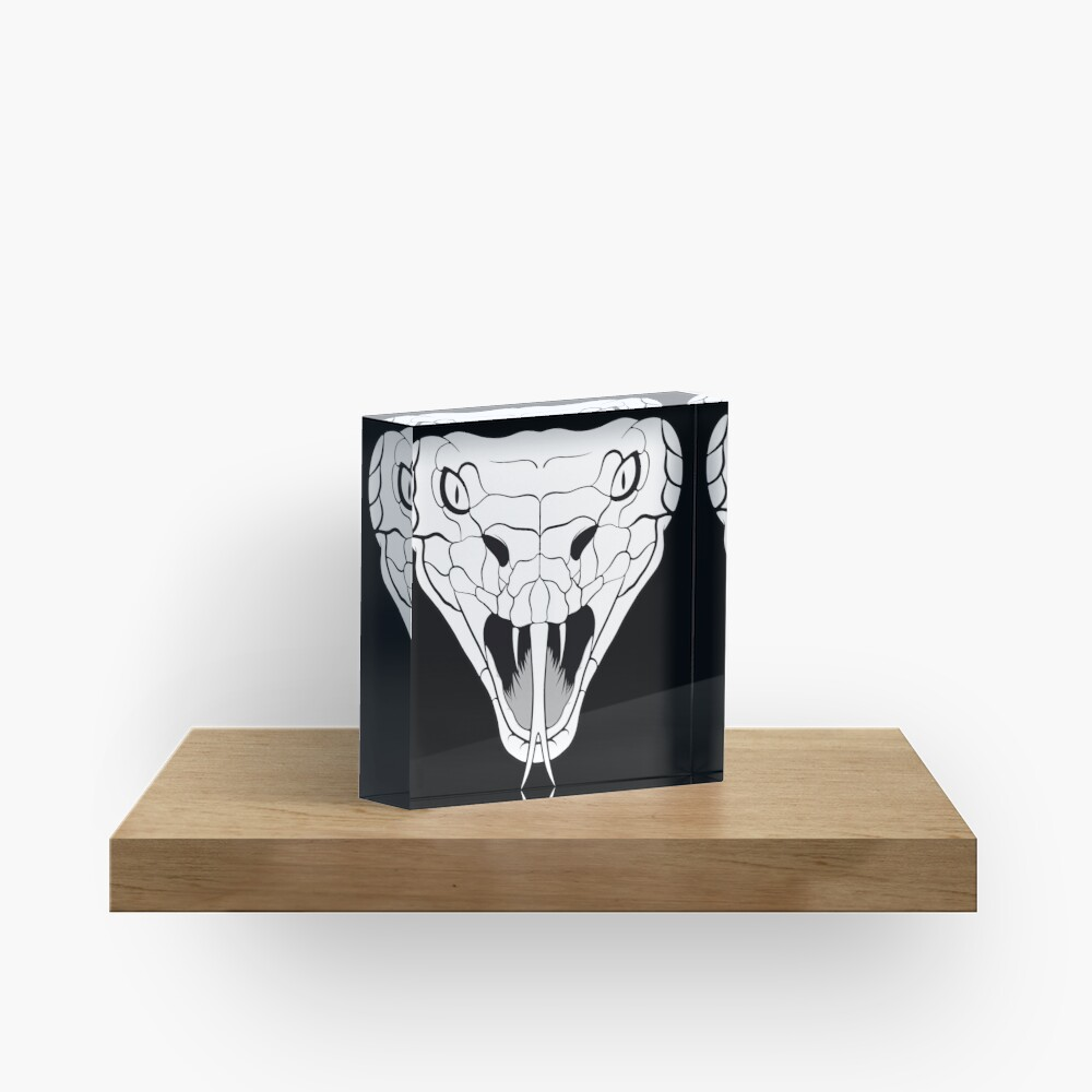 Snake head line-art Acrylic Block
