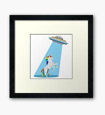 Unicorn Abduction Framed Print