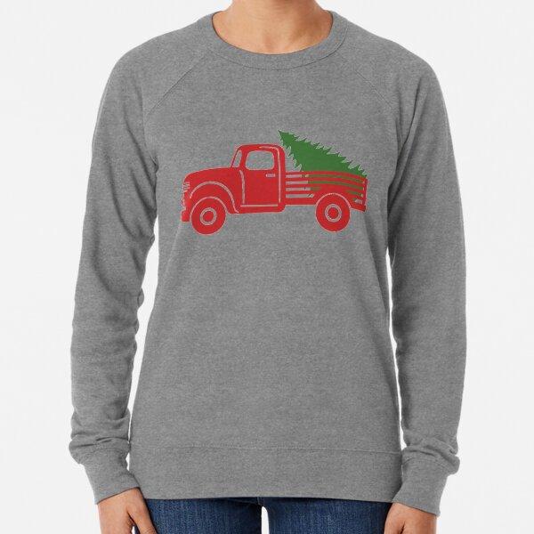Christmas tree truck Lightweight Sweatshirt