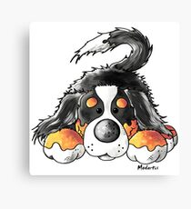 Cute Bernese Mountain Dog - Dogs - Puppy - Comic - Gift Canvas Print