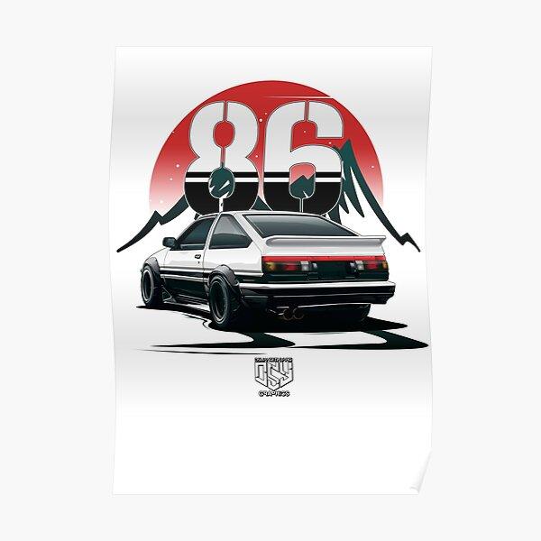 AE86 Trueno (White) Poster