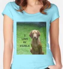 vizsla love with picture Women's Fitted Scoop T-Shirt