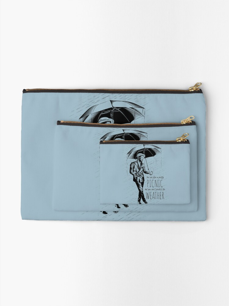 Alternate view of Andre in the Rain Zipper Pouch
