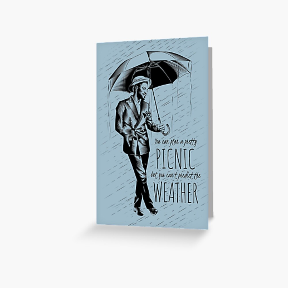 Andre in the Rain Greeting Card