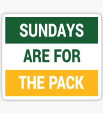 Sundays Are For The Pack Sticker