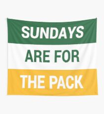 Sundays Are For The Pack Wall Tapestry