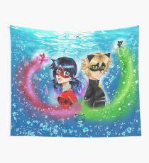 Underwater Miraculous Ladybug Wall Tapestry