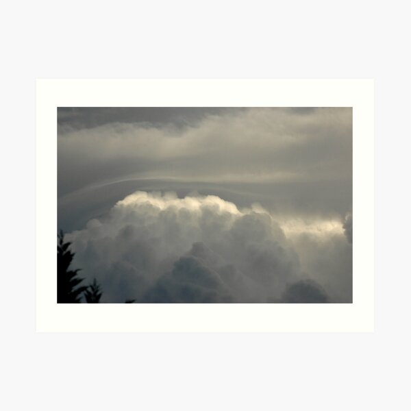 When Clouds Collide - 2 Art Print